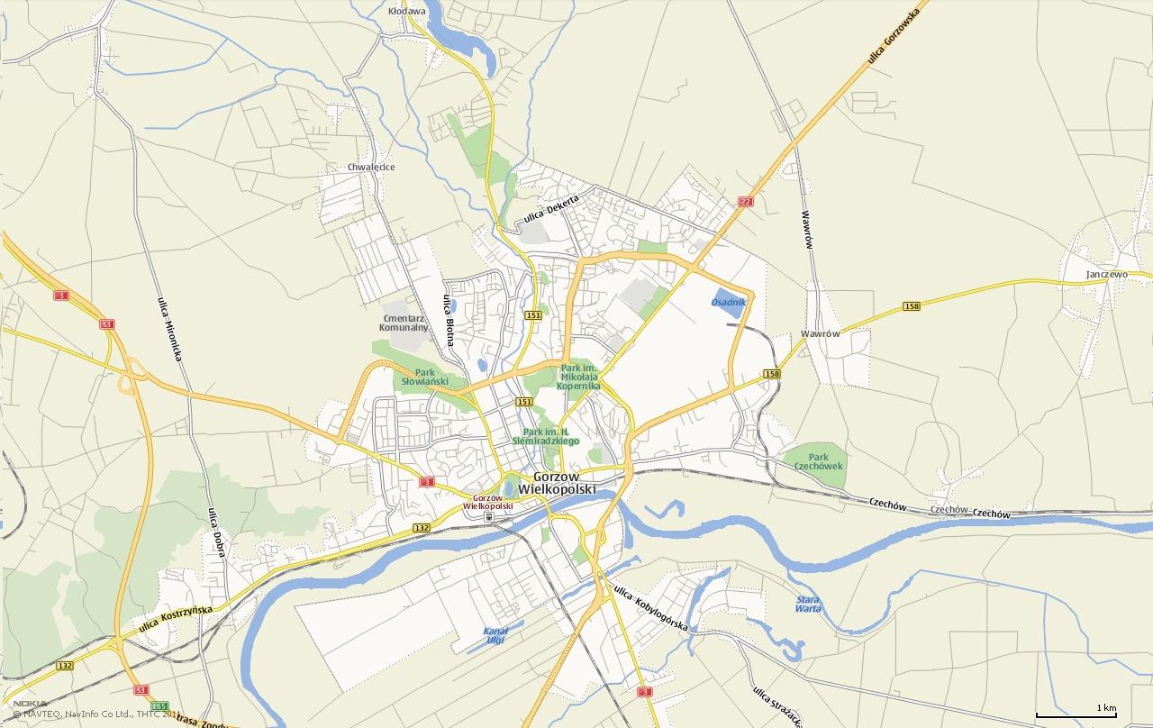 Mapa Gorzów Wielkopolski