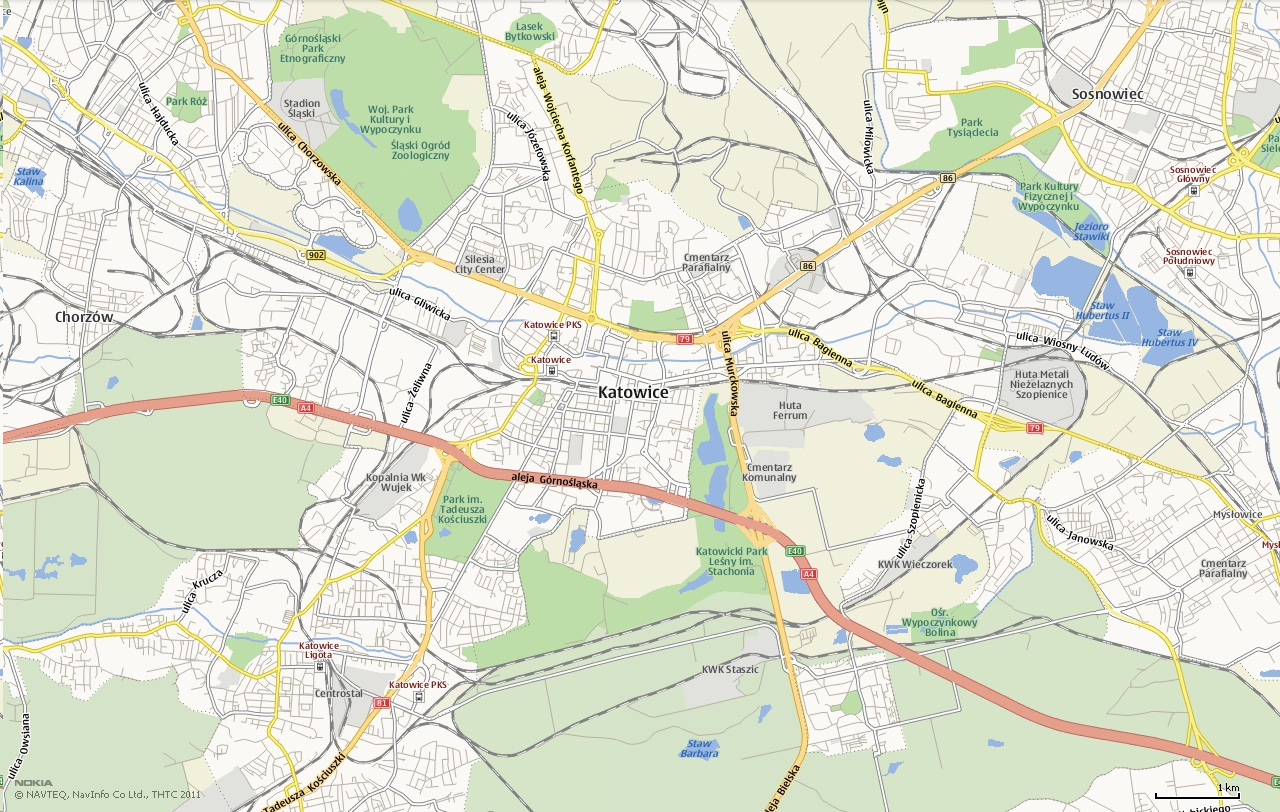 Mapa Katowice