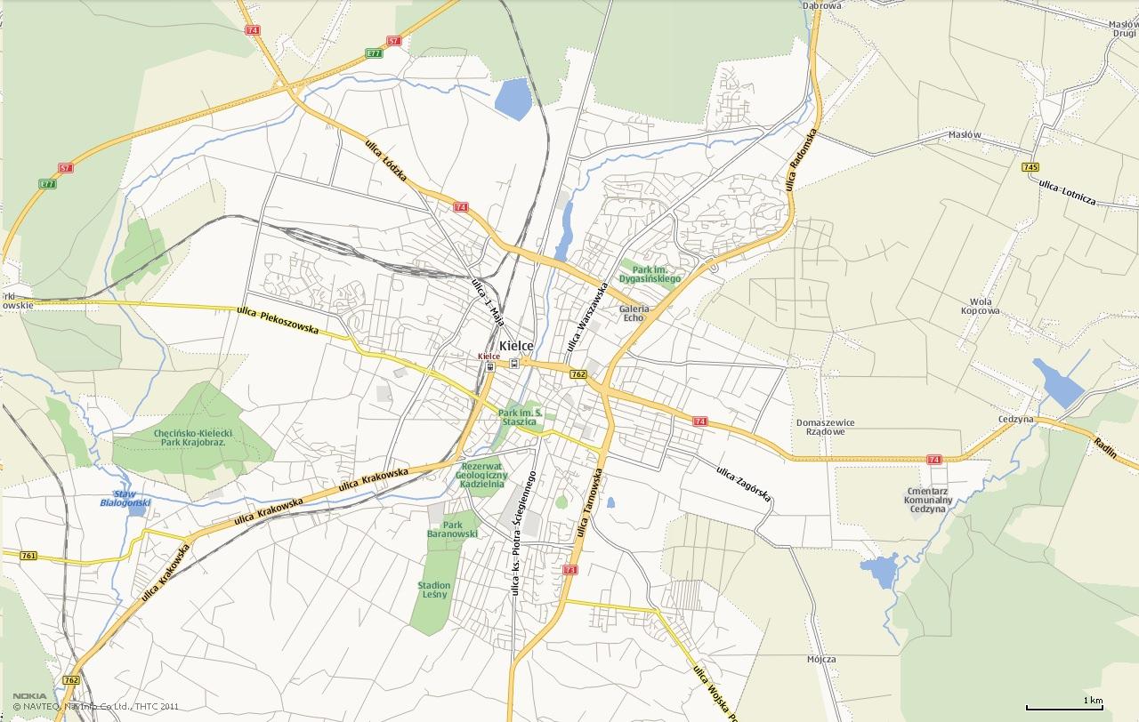 Mapa Kielce