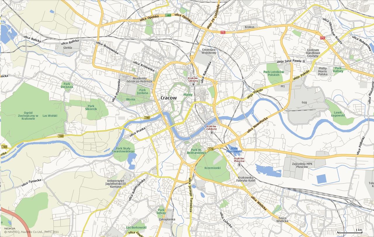 Mapa Krakow Panstwa Swiata