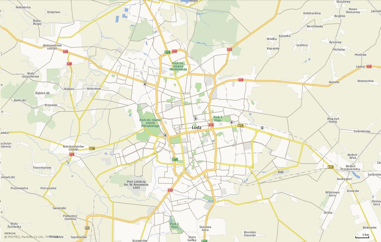 Mapa Łódź