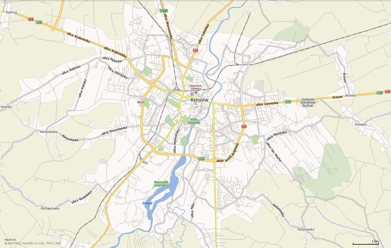 Mapa Rzeszowa