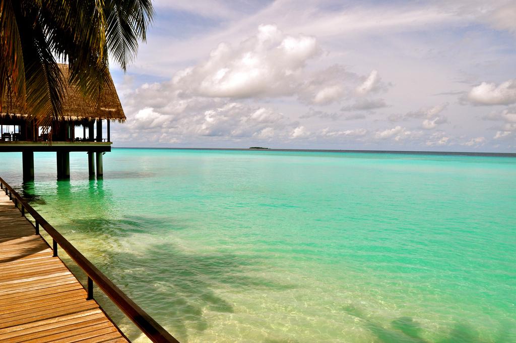 molo domki ocean malediwy