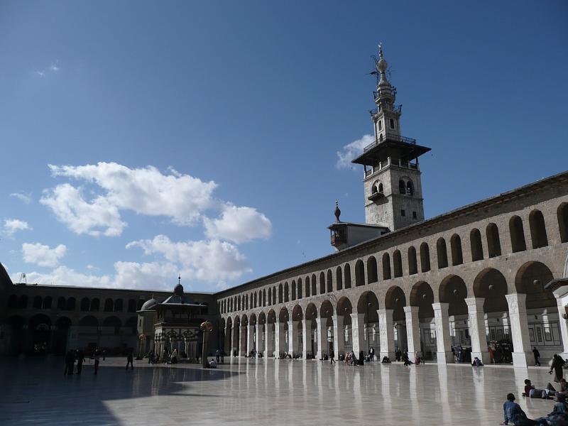 Umayyad Mosque courtyard damaszek syria