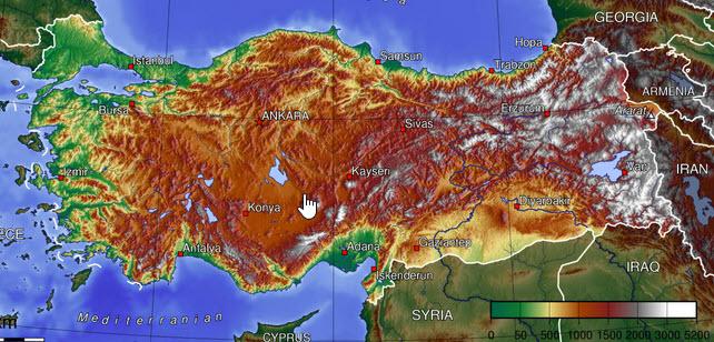 Mapa Turcji