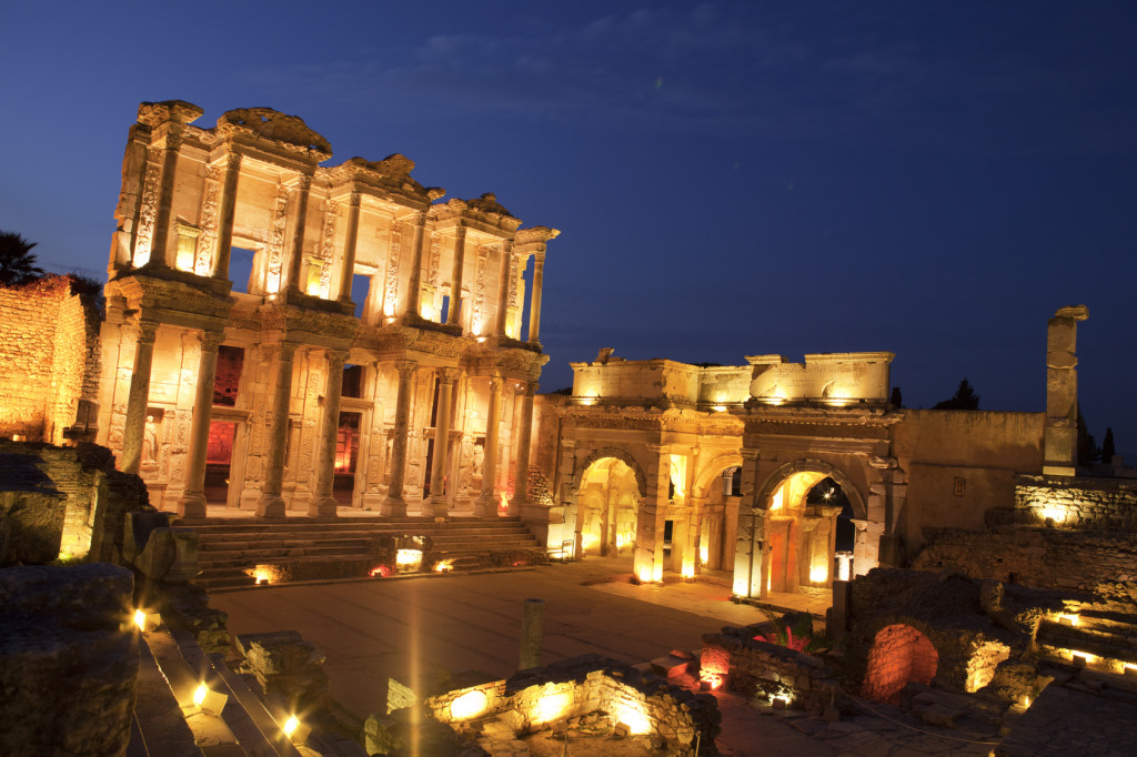Library of Celsus, Ephesus, Turkey - Stock Image